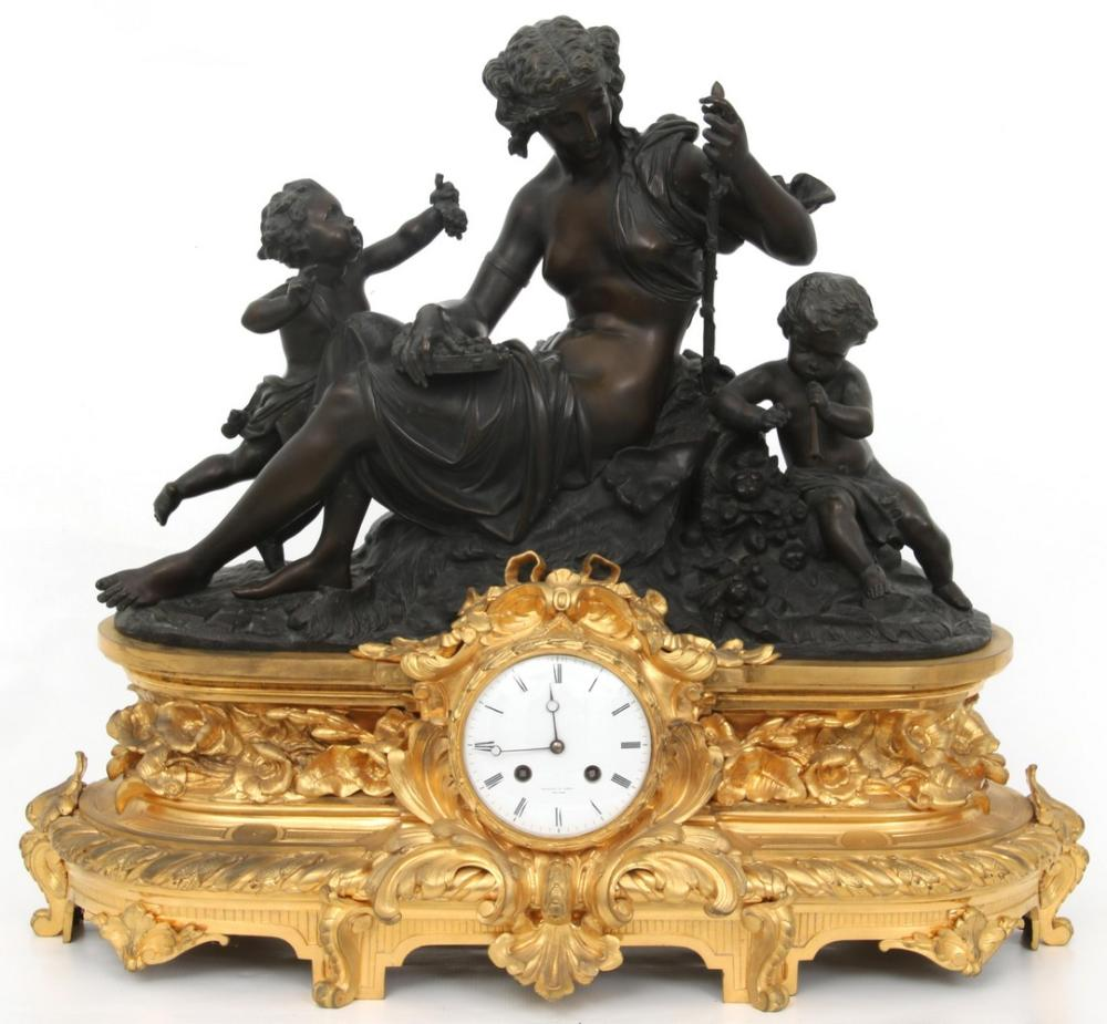 Tiffany & Co. French Bronze Mantel Clock