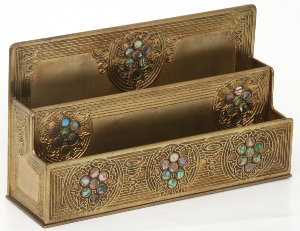 Tiffany Studios Nine Piece Abalone Desk Set