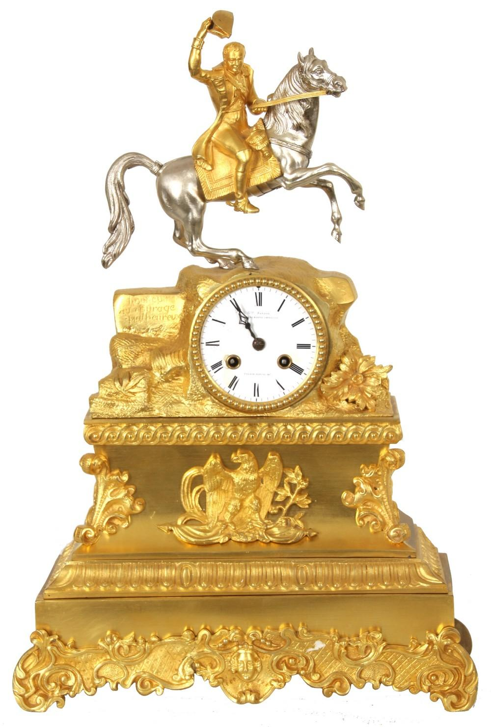 Bronze Silk Thread Mantle Clock of Napoleon