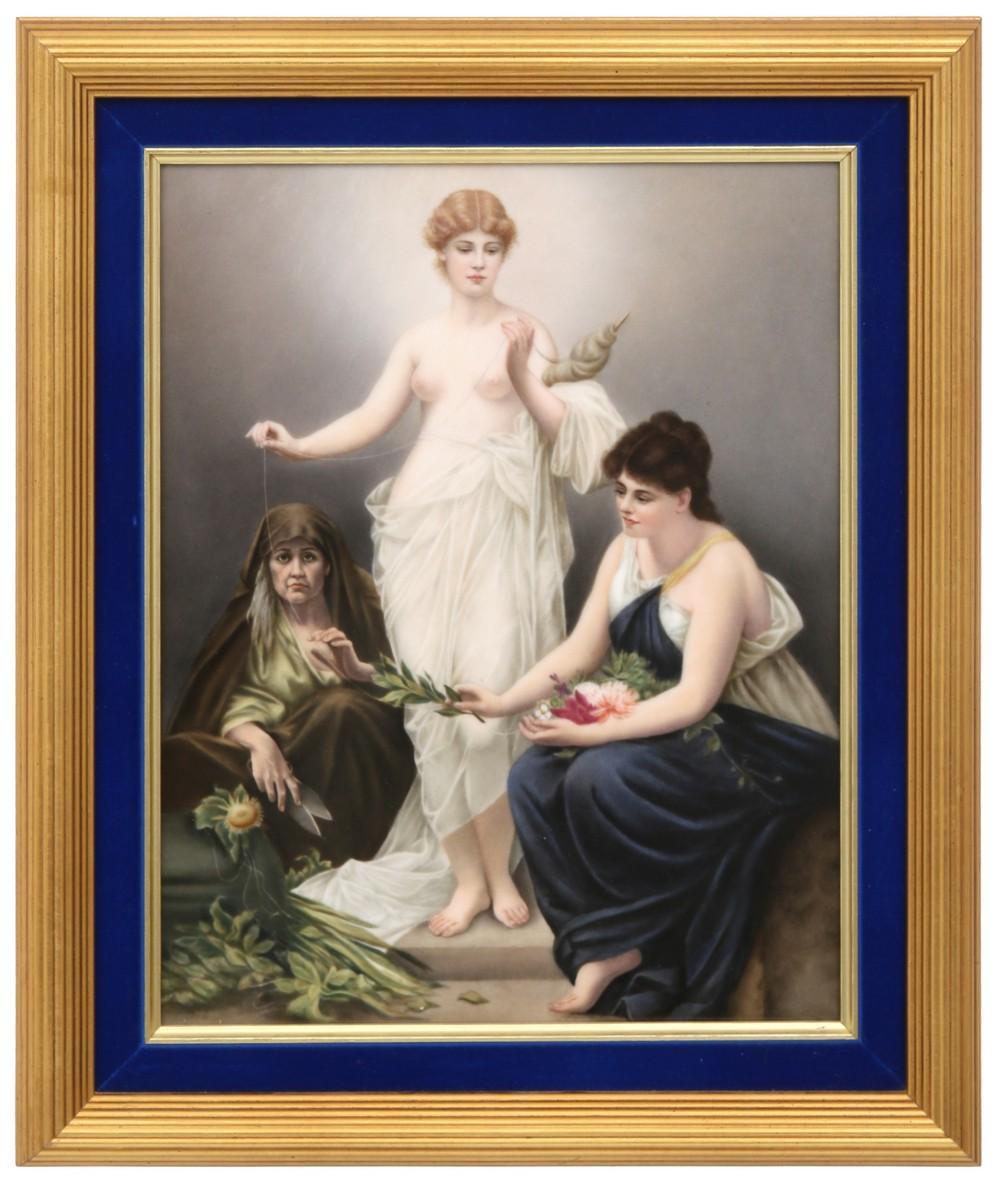 "KPM Plaque of ""The Three Fates"""