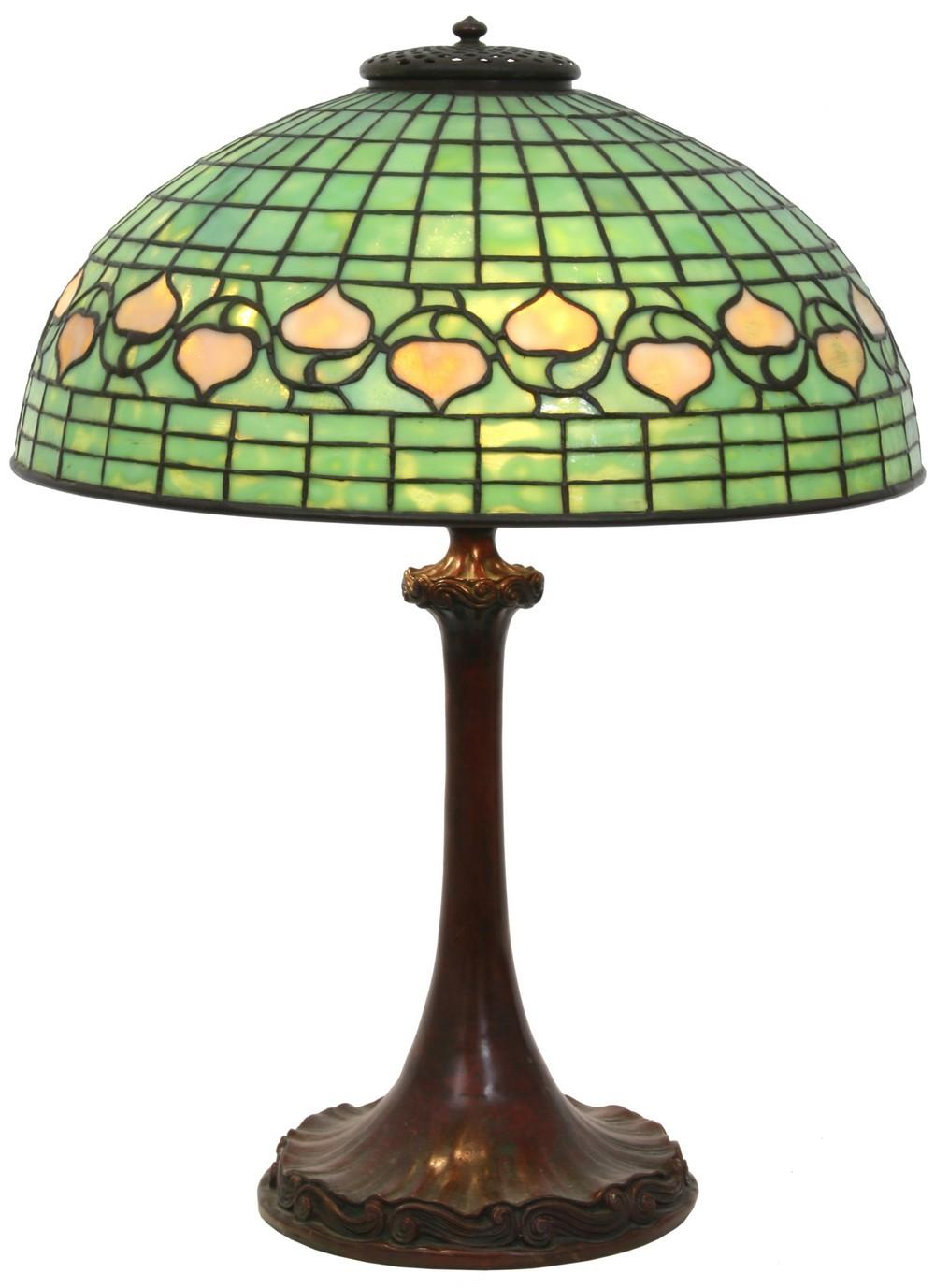 Tiffany Studios Acorn Table Lamp