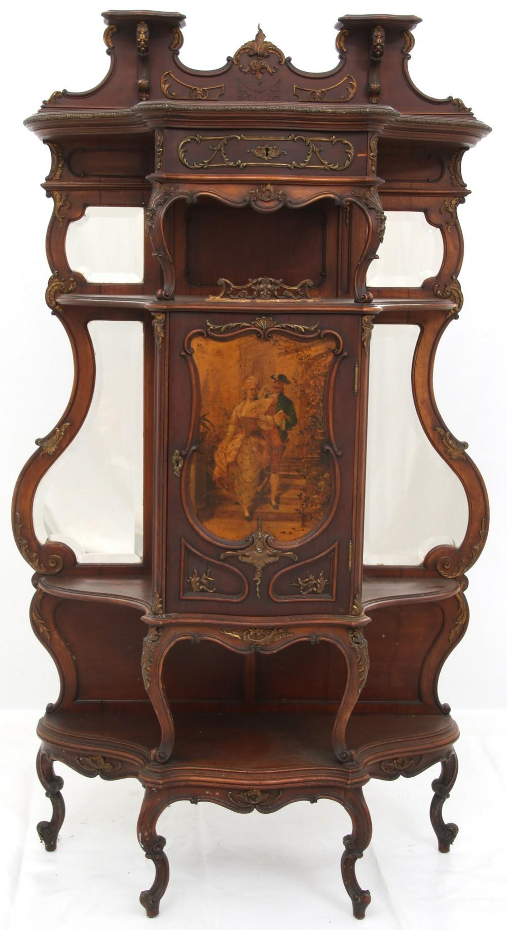 French Bronze Mounted Curio Etagere