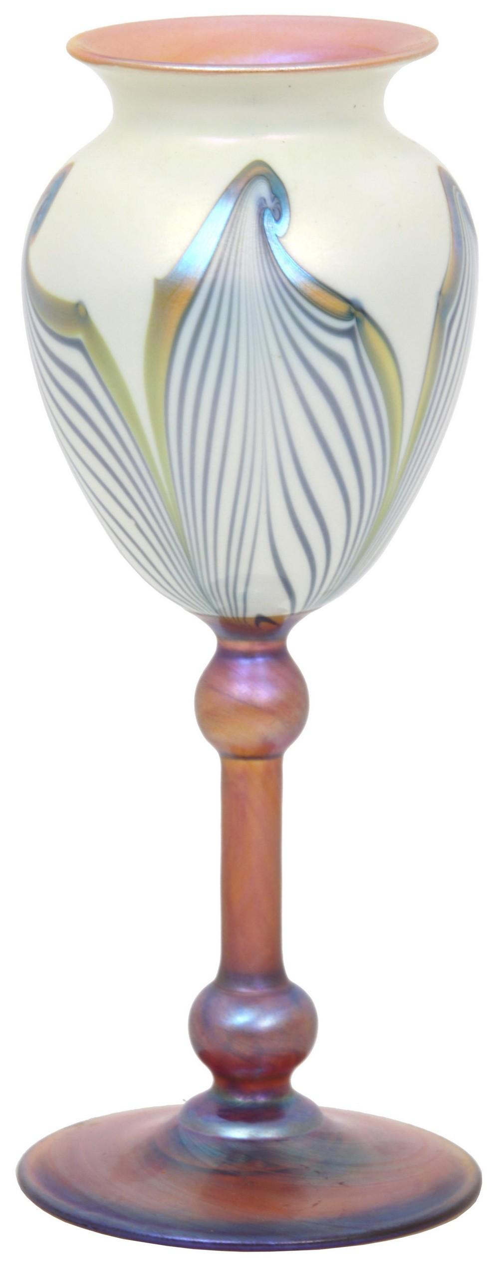 Durand Hooked Feather Vase