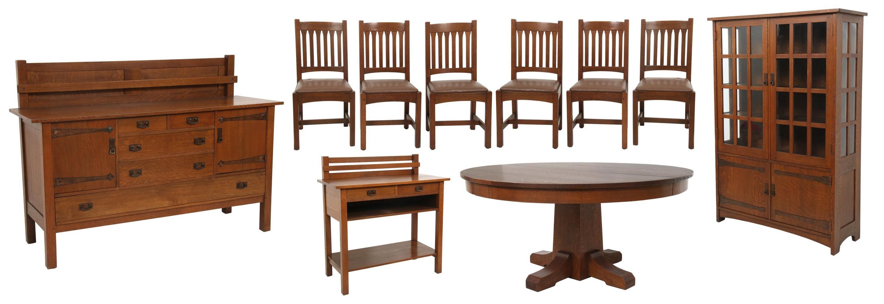 L. & J.G. Stickley Dining Room Set