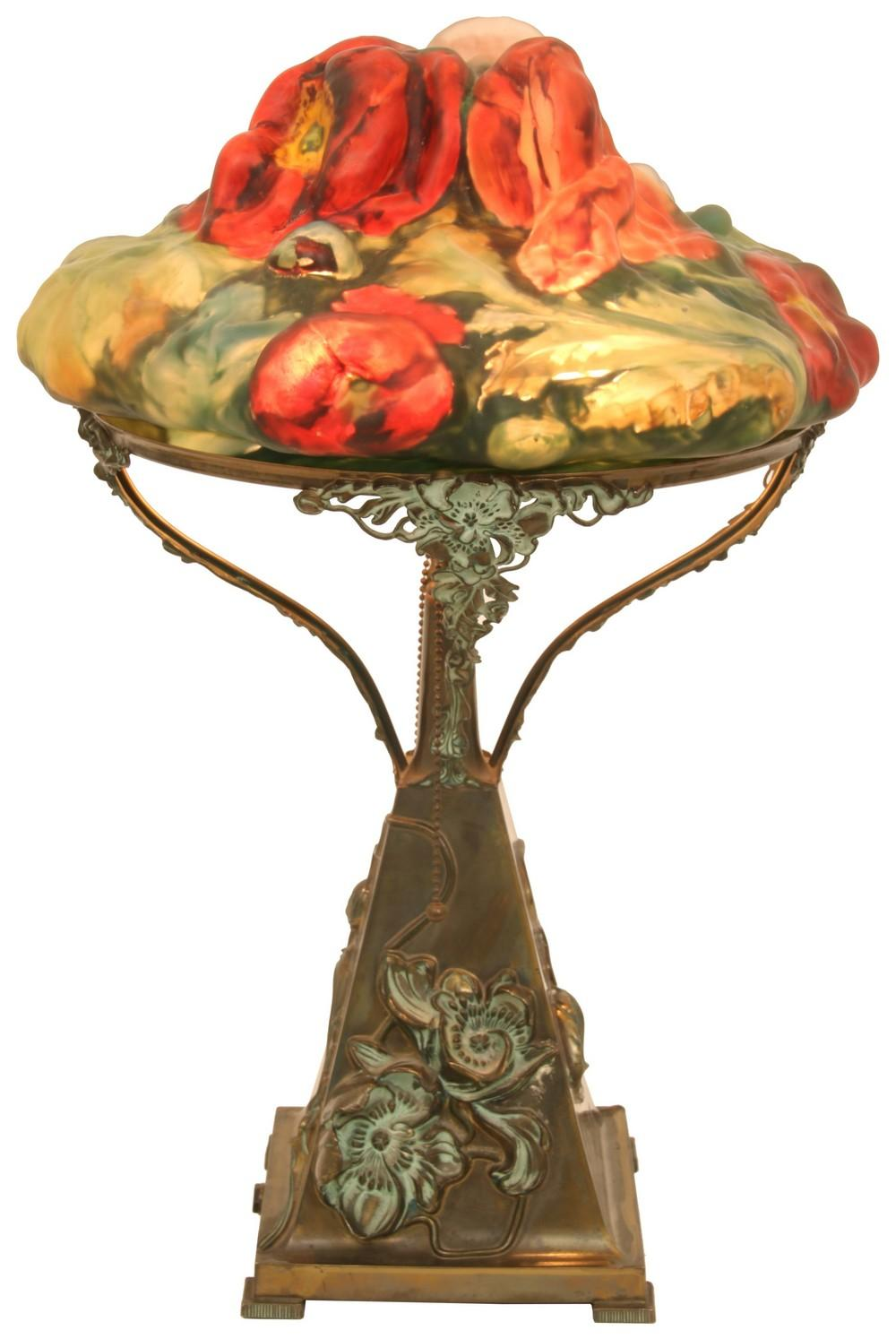 """Pairpoint Puffy """"Poppy"""" Table Lamp"""