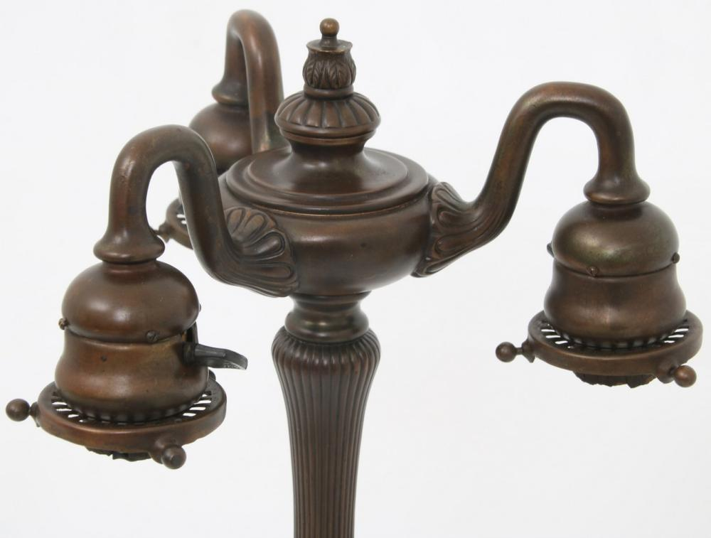 Tiffany Studios Three Light Tulip Lamp