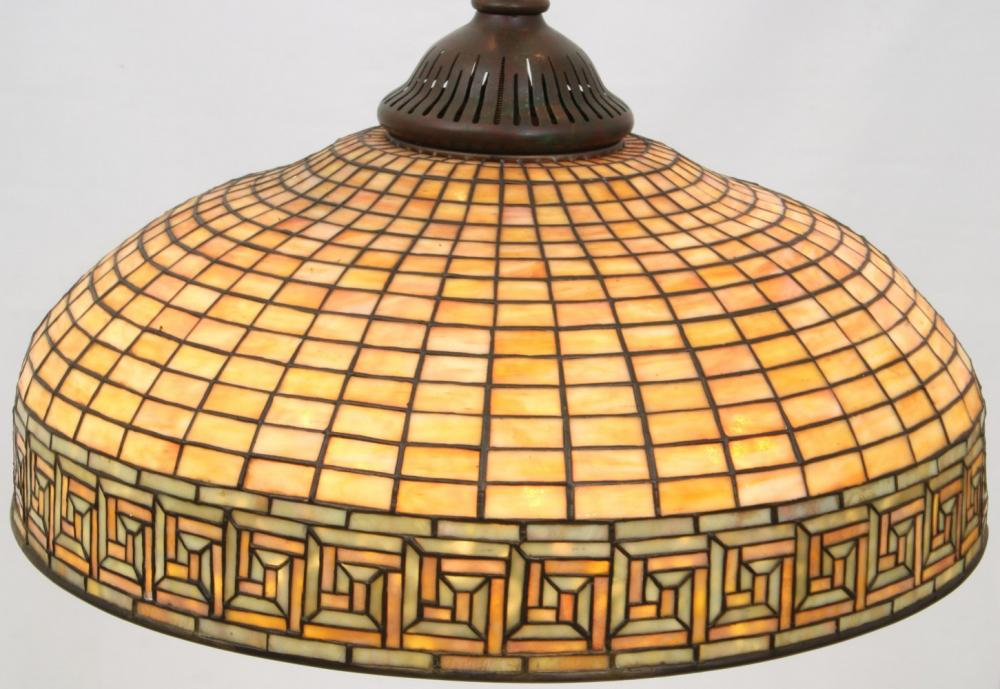 Tiffany Studios Greek Key Chandelier