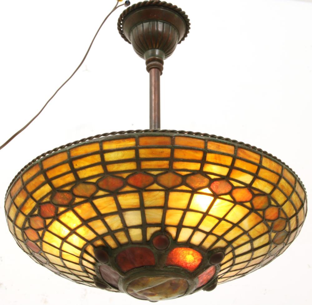Tiffany Studios Turtleback Chandelier