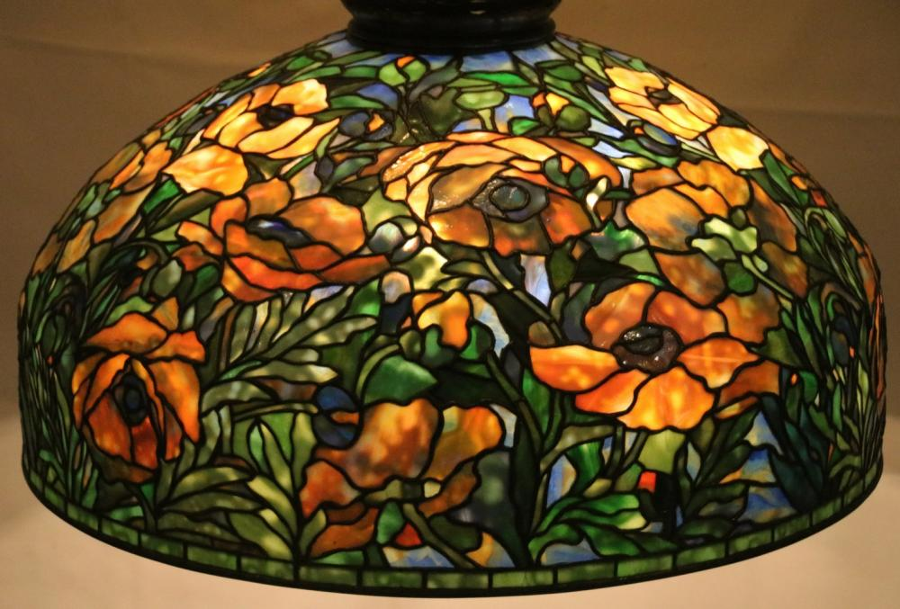 Tiffany Studios Oriental Poppy Chandelier