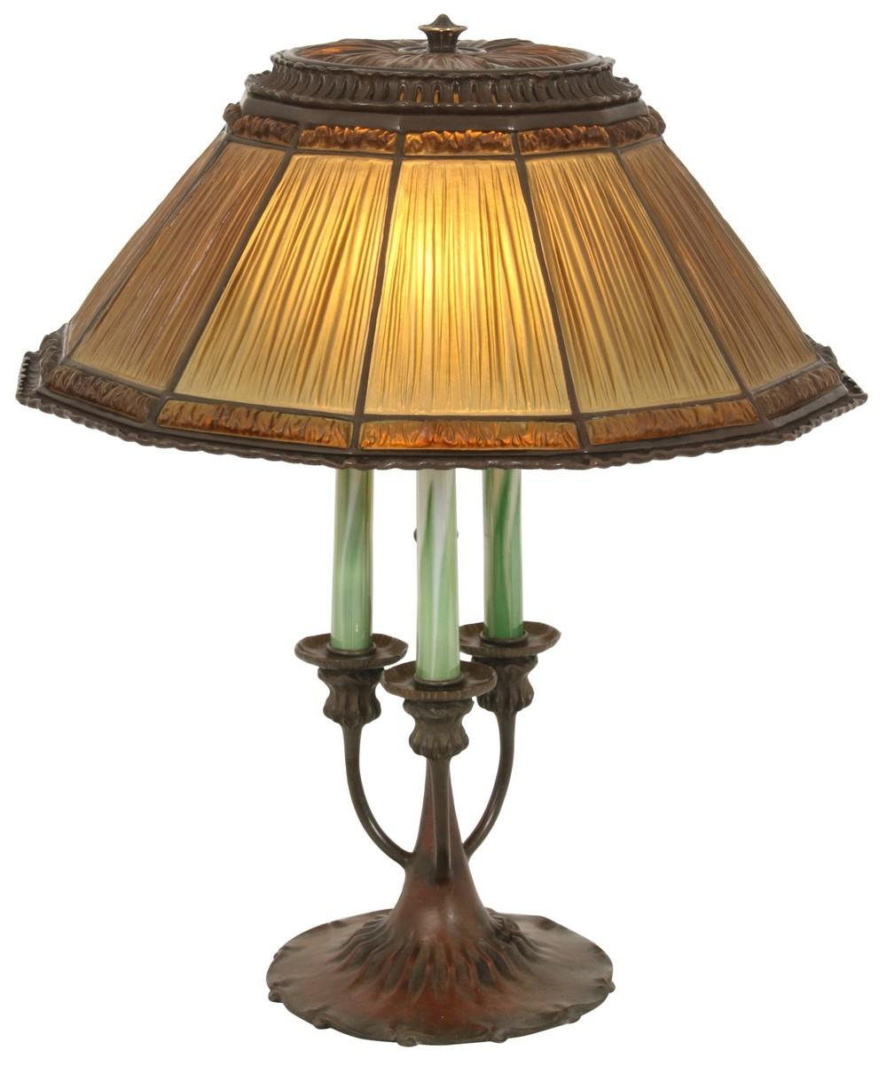 Tiffany Studios Linenfold Table Lamp