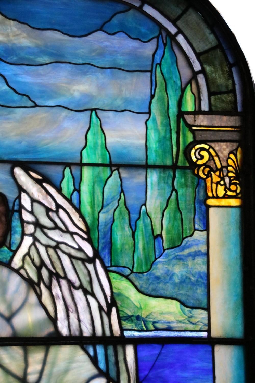 Leaded Glass Angel Window