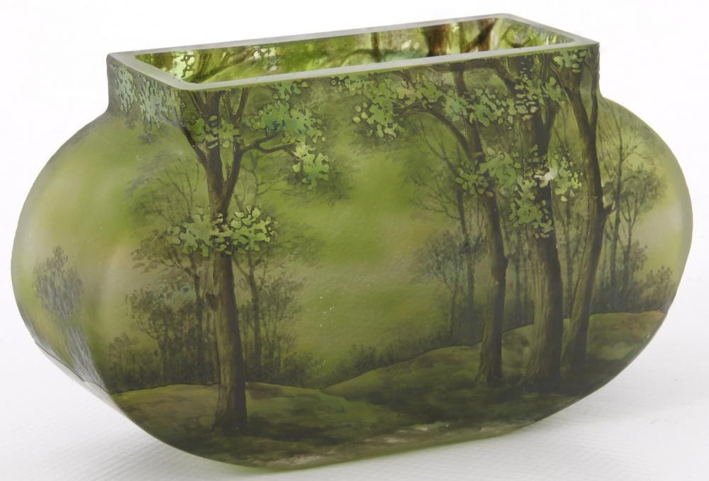 Daum Nancy Summer Landscape Vase