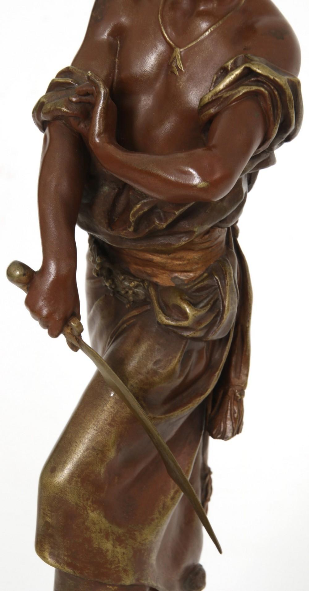 Bronze Sculpture of an Arab Warrior