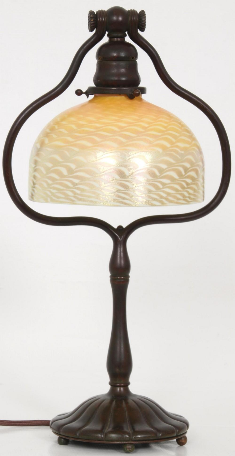 Tiffany Studios Damascene Desk Lamp