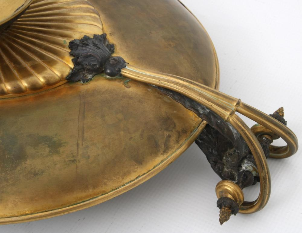 Gilt and Patinated Bronze Tazza