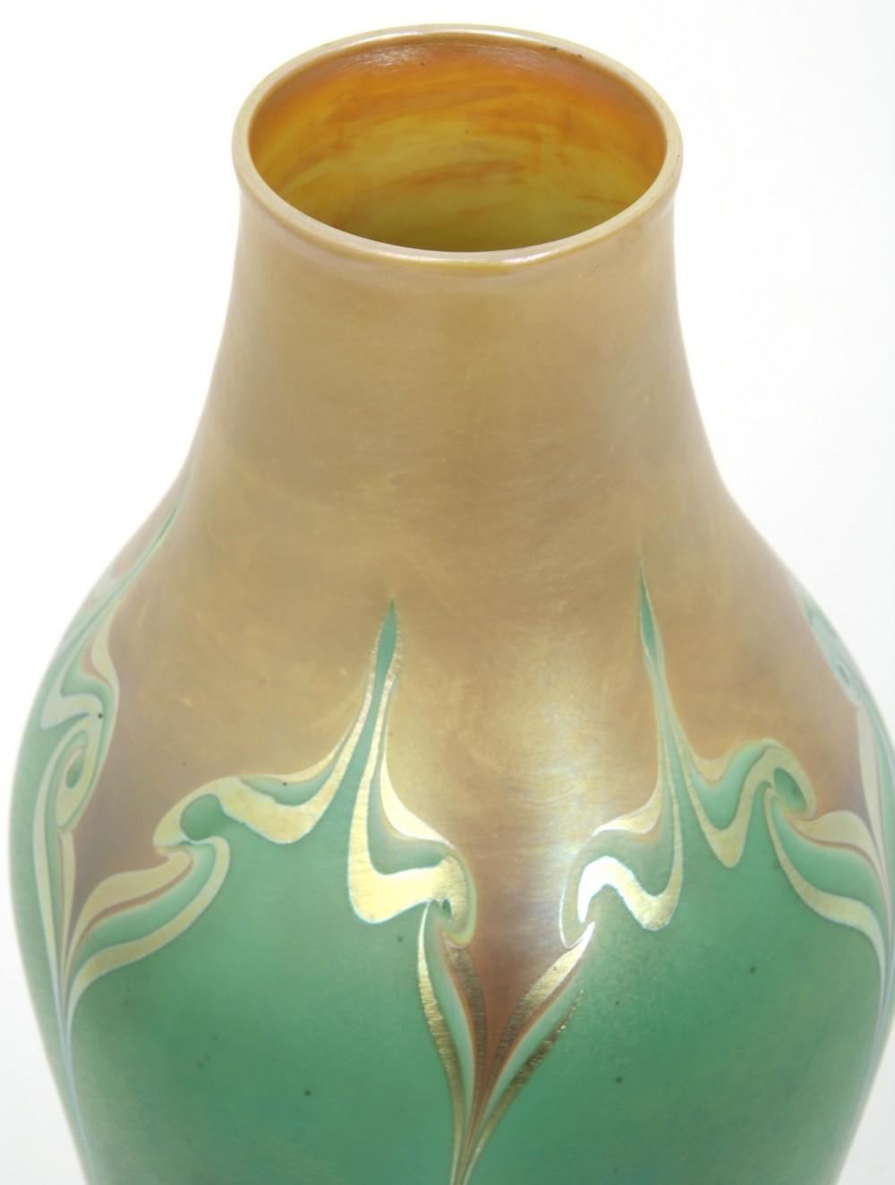 Rare Trevaise Decorated Art Glass Vase