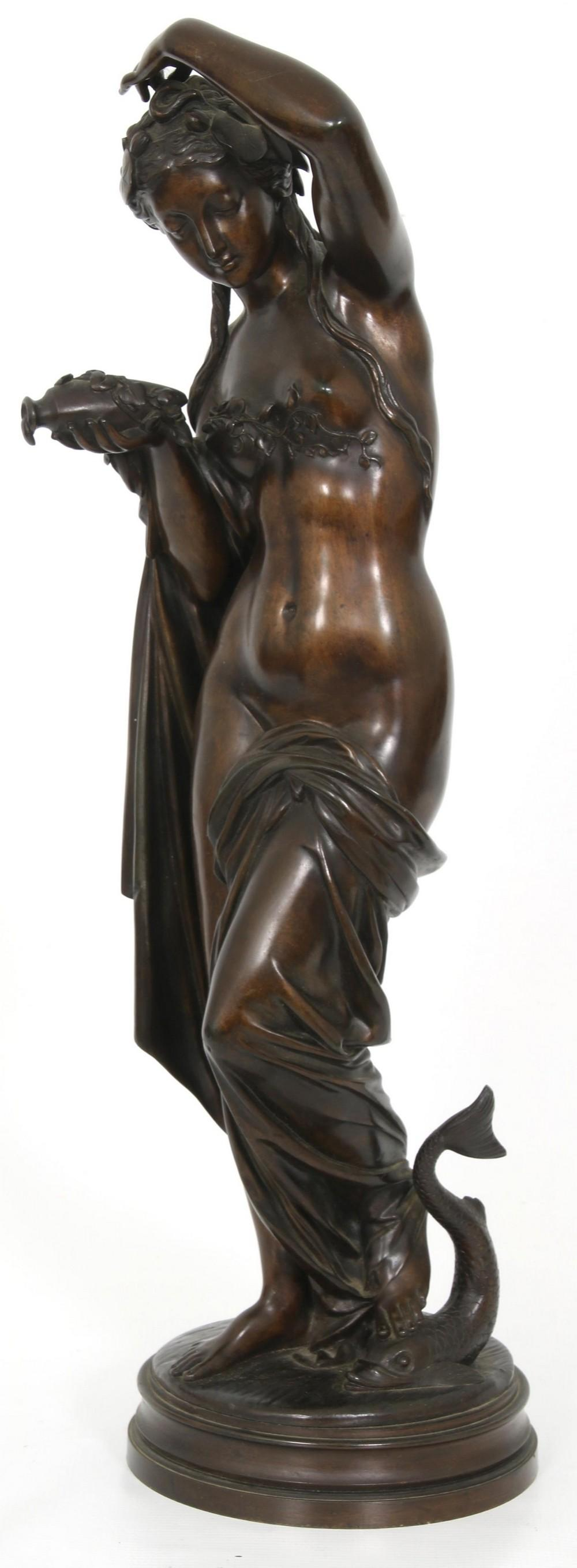 French Bronze Sculpture of a Woman