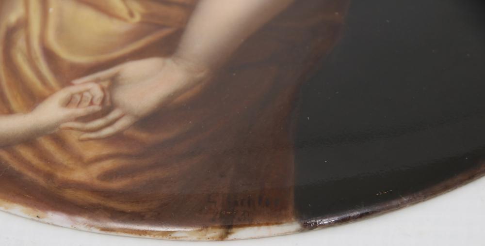 KPM Porcelain Plaque of a Woman