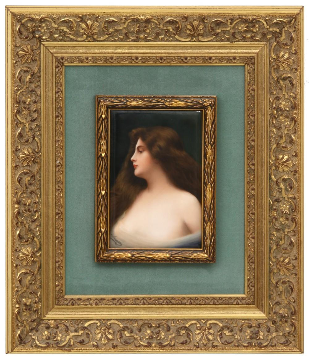 Porcelain Plaque by Wagner