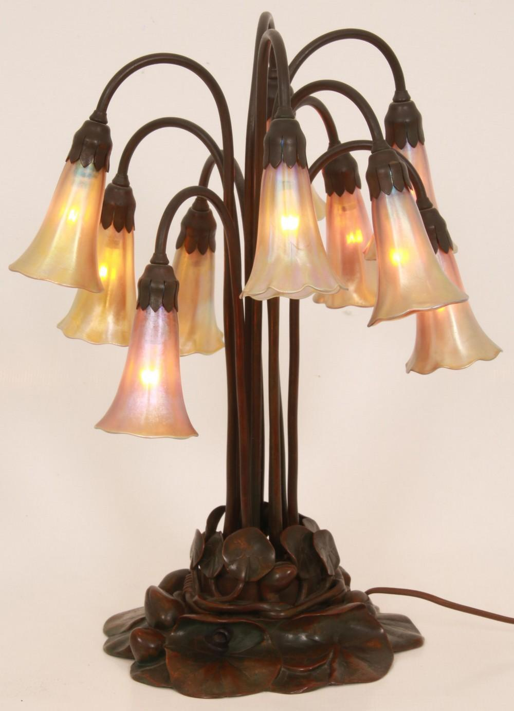 Tiffany Studios 10 Light Lily Lamp
