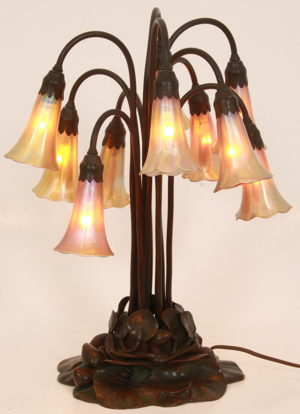 Tiffany Studios 10 Light Lily Lamp
