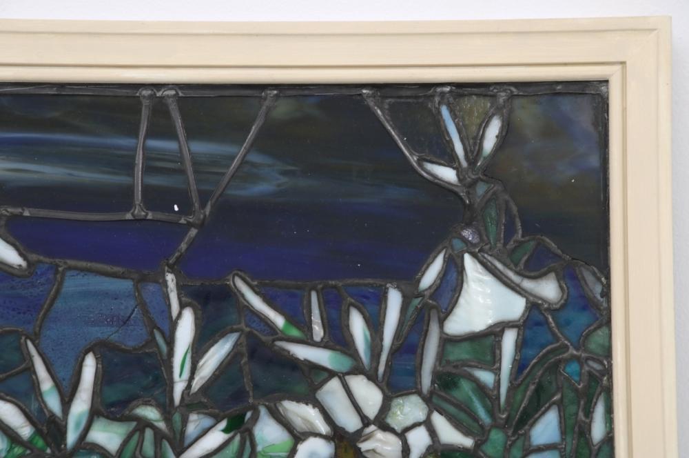 Attr. Tiffany Studios Leaded Glass Window
