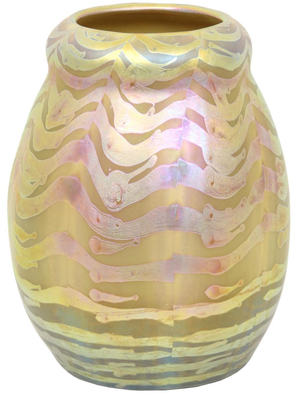 Trevaise Decorated Art Glass Vase