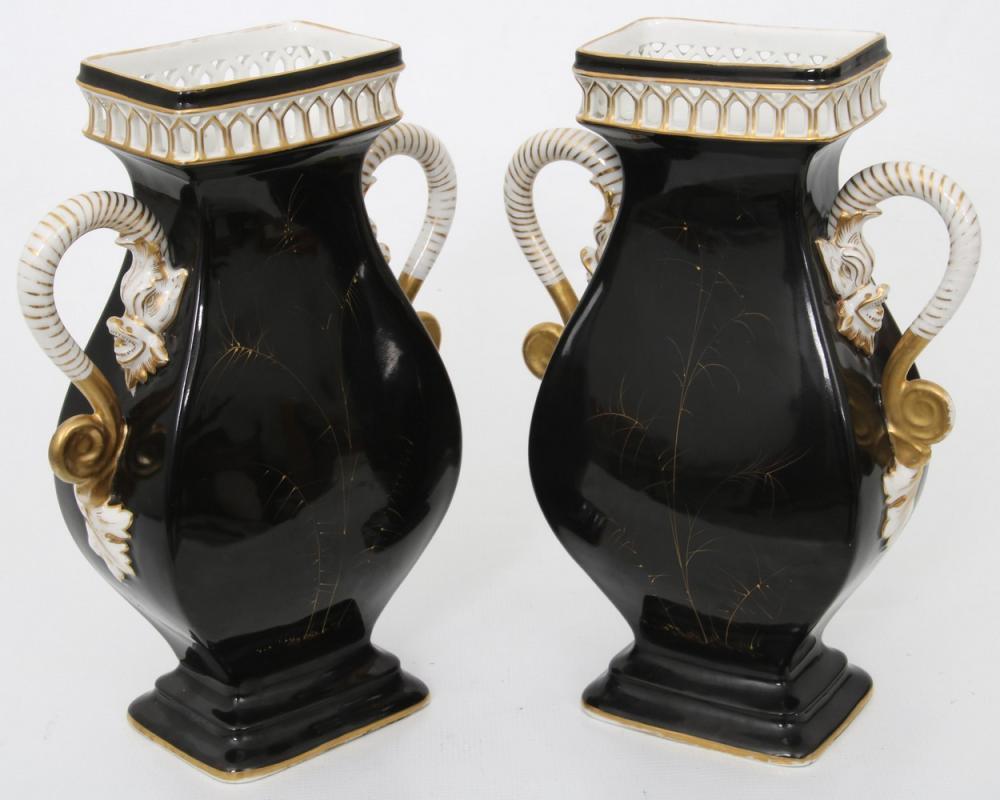 Pair of French Porcelain Vases