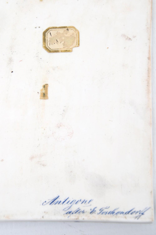 Porcelain Plaque of Antigone