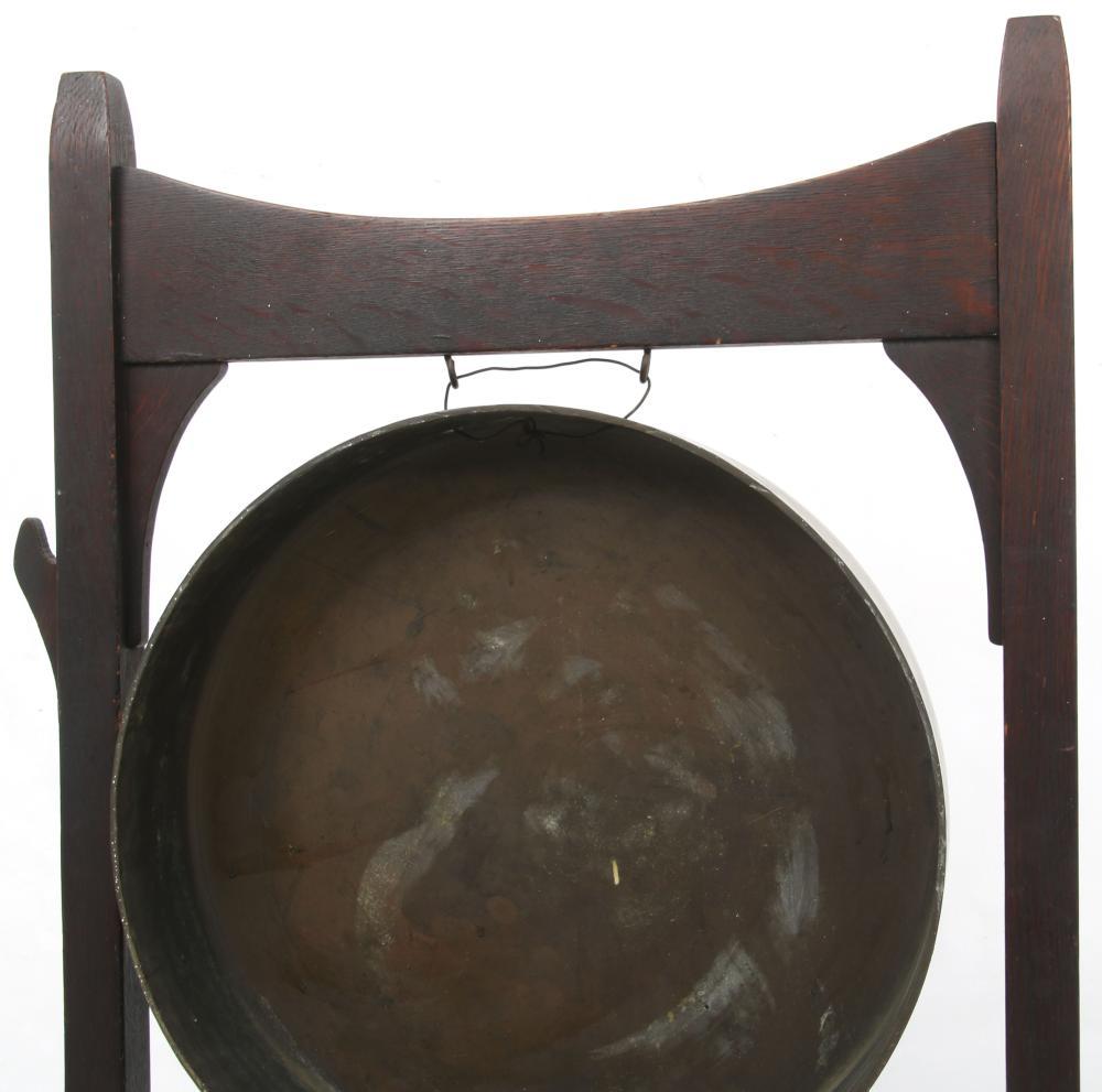 Early Gustav Stickley Dinner Gong, Circa 1902