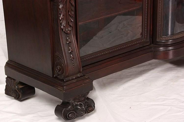 R.J. Horner Mahogan 3 Door Rattail Maiden Bookcase