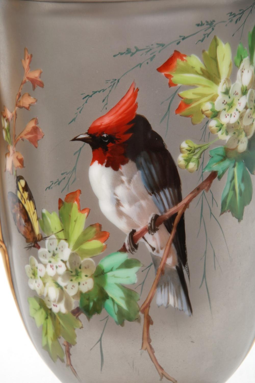 Pr. Porcelain Platinum Background Vases