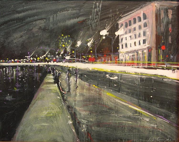 Rain on Malecon by Luis Enrique Camejo