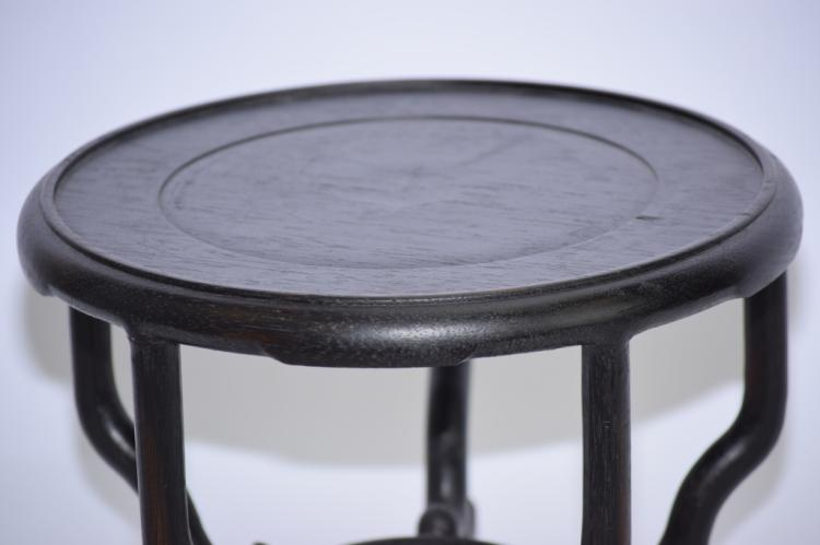 Chinese wood carved flower pot stand