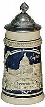 Washington DC Souvenir Mini 1/8 L Stein