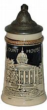 Miniature Souvenir 1/16 L. Court House  Stein