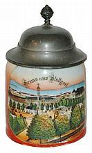 Miniature 1/8 L. Stuttgart Souvenir Stein