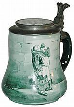Drinking Monk O'Hara Dial Stein w Enamel Inlay