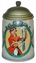 Dueling Fraternal Student Stoneware Stein