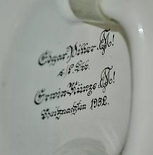 Fraternal Student Shield on Square sided Stein