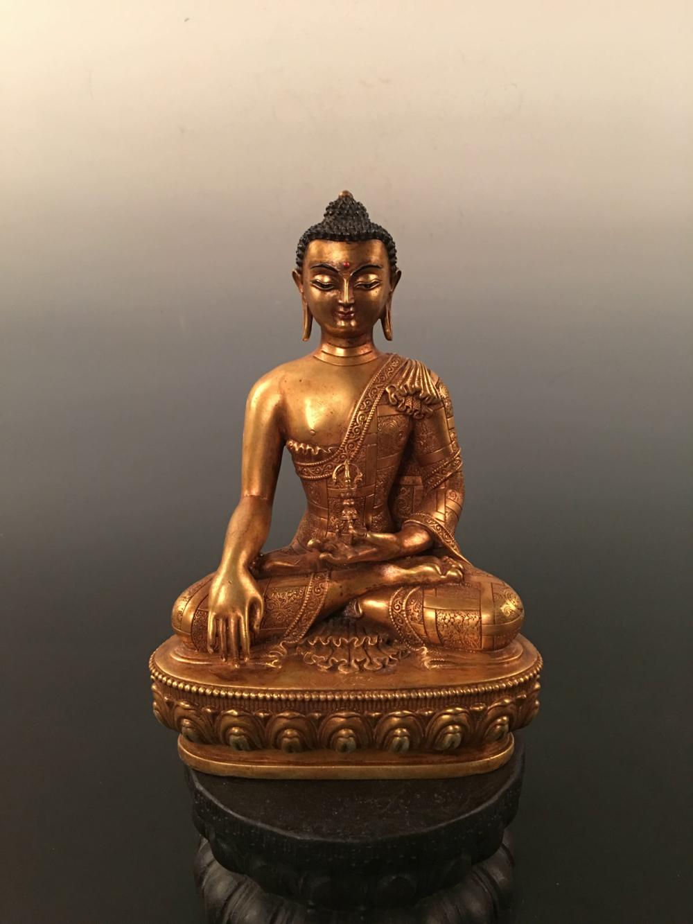 Chinese Gilt Bronze Buddha Statue With Yong Le Mark