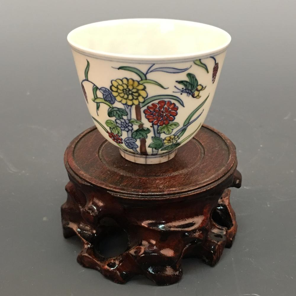 Chinese Wucai 'Flower' Cup, Chenghua Mark
