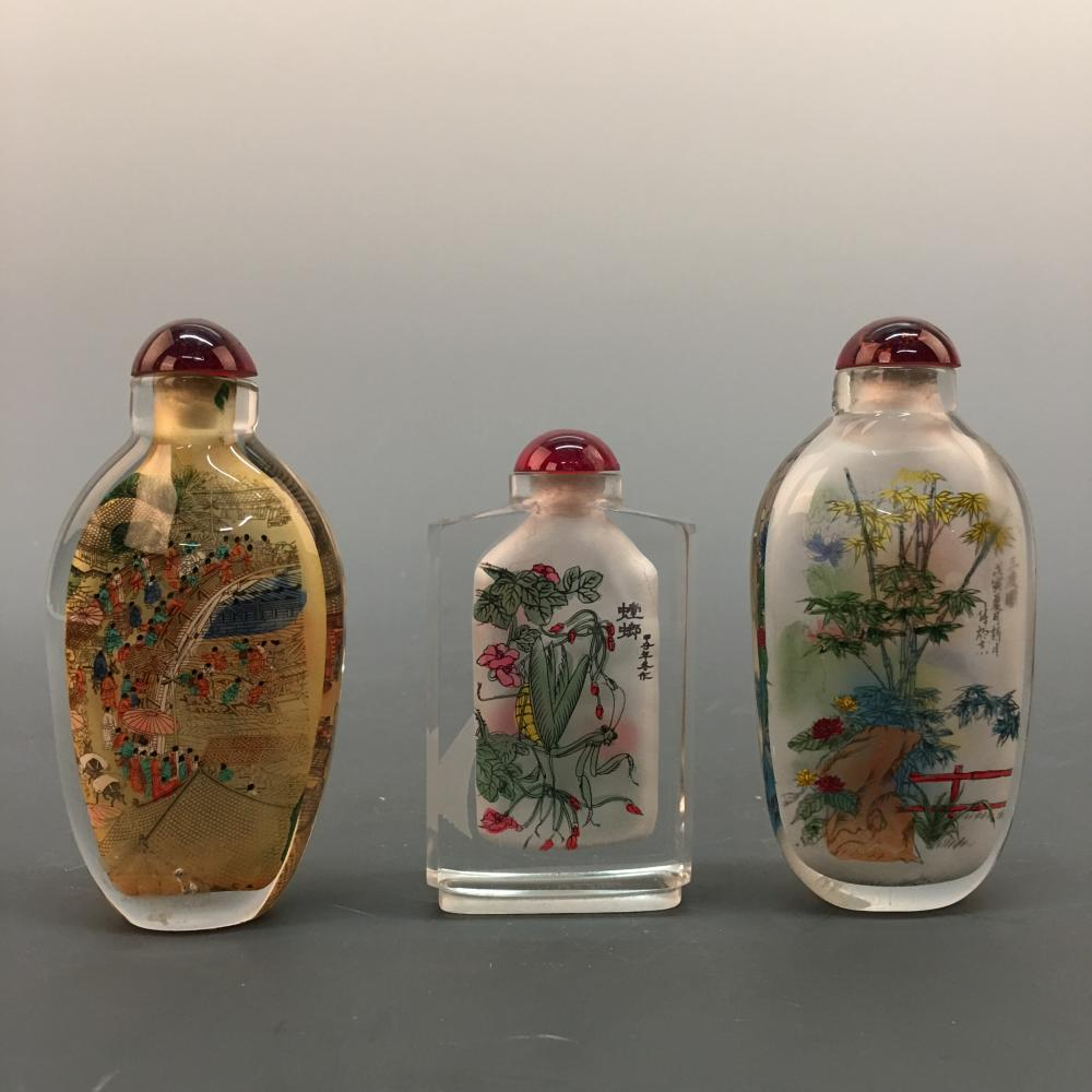 3 Chinese Snuff Bottle