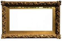 AMERICAN 19TH CENTURY ANTIQUE FRAME