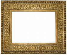 ITALIAN 19TH CENTURY ANTIQUE CASSETTA FRAME
