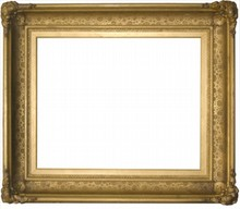 AMERICAN 19TH CENTURY ANTIQUE HUDSON RIVER SCHOOL FRAME