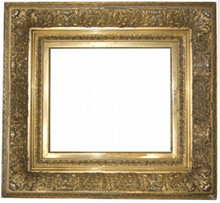 AMERICAN 19TH CENTURY ANTIQUE BARBIZON FRAME