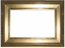 AMERICAN 19TH CENTURY ANTIQUE GILDED OAK FRAME