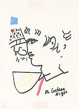 COCTEAU, JEAN PRINT Original lithograph, printed on arches paper