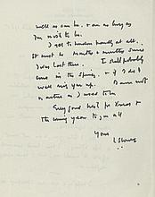 LOWRY, L.S. ALS A single page ALS from L.S